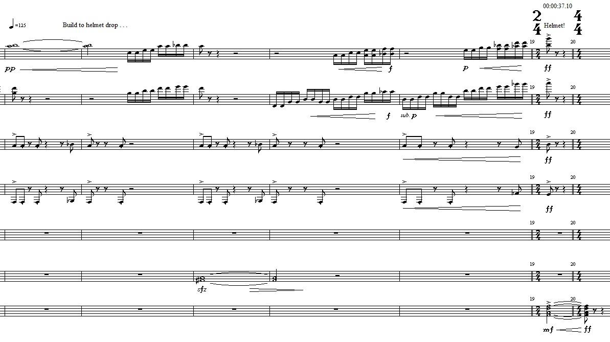 The Cure - Score Sample